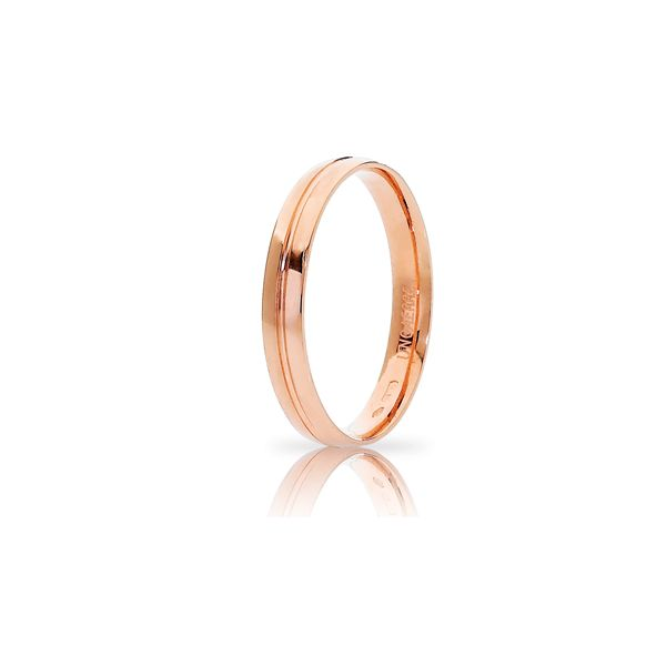 Red gold wedding band