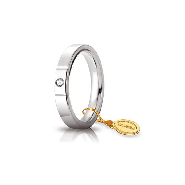 Fede Cerchi di Luce mm.3.5 in oro bianco