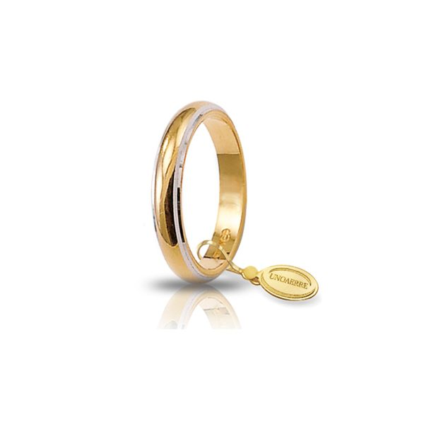 Yellow and white gold wedding band