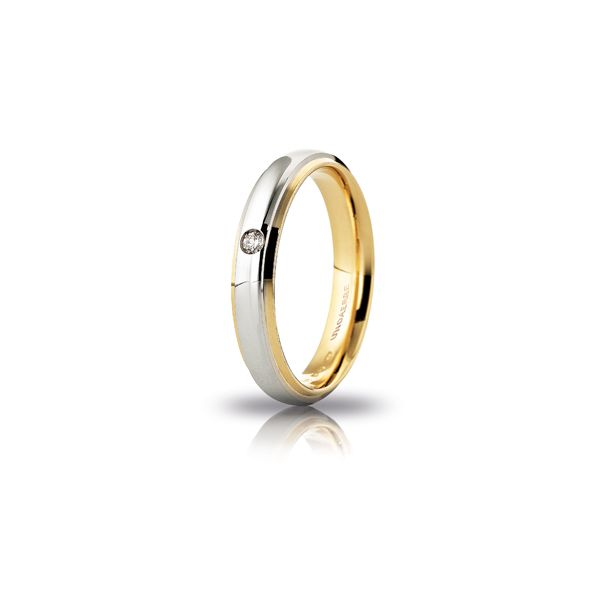 Two colours gold wedding band