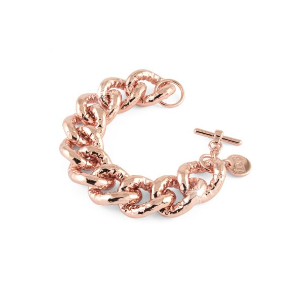 Bracciale in bronzo dorato rosa
