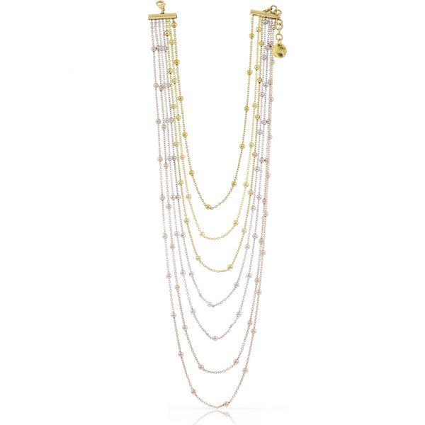 Three colours bronze necklaces