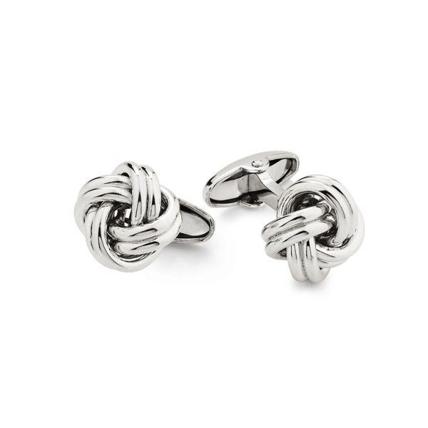 White silver cufflinks