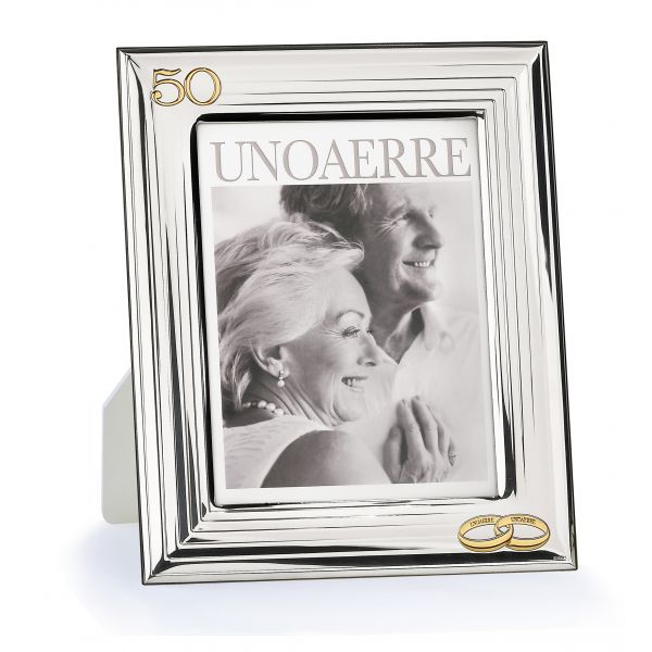 White silver picture frame