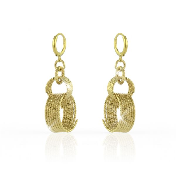 Yellow bronze earrings