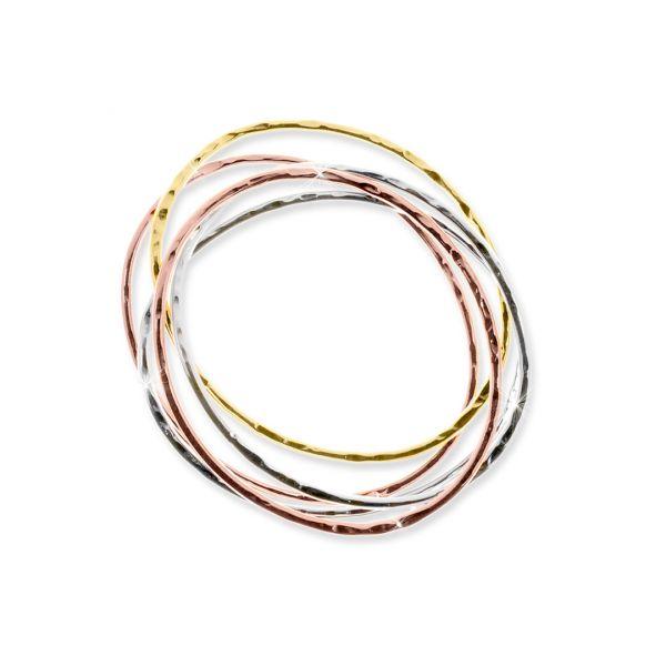 Bracciale in bronzo tre colori
