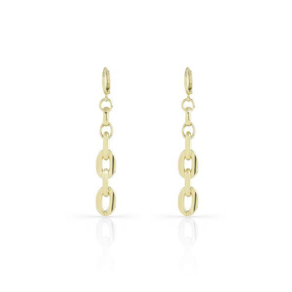 Yellow bronze Flat earrings