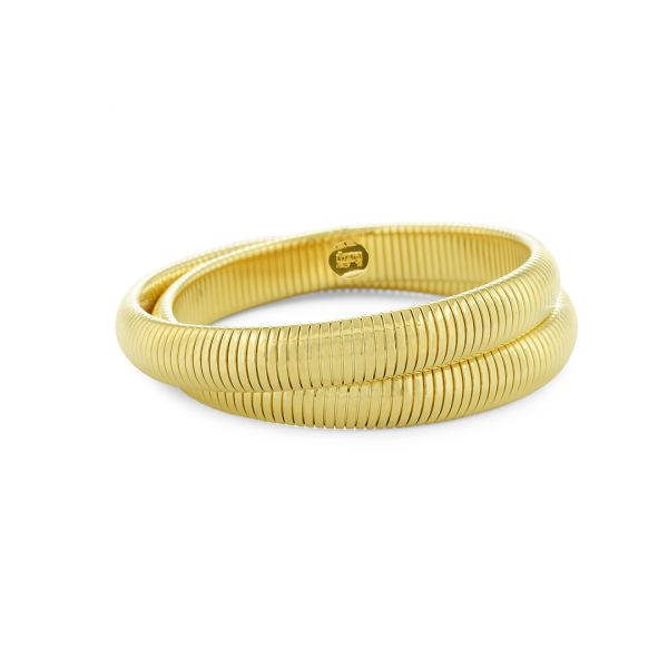 Yellow gold bronze bracelets