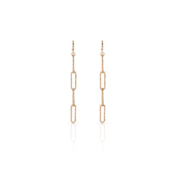 Red bronze earrings