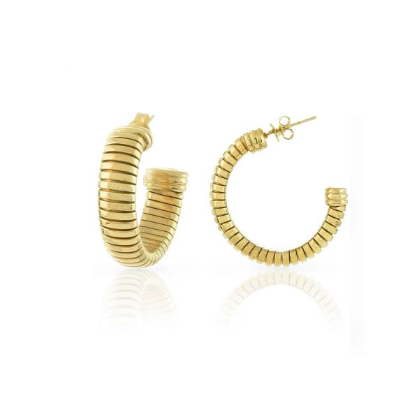 Yellow bronze earrings