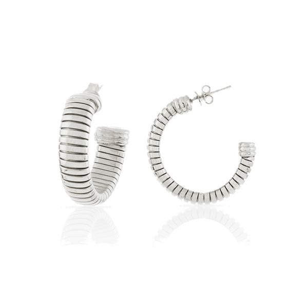 White bronze earrings