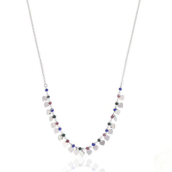 White silver necklaces