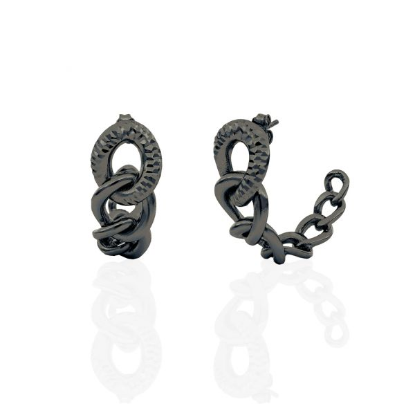 Black bronze earrings