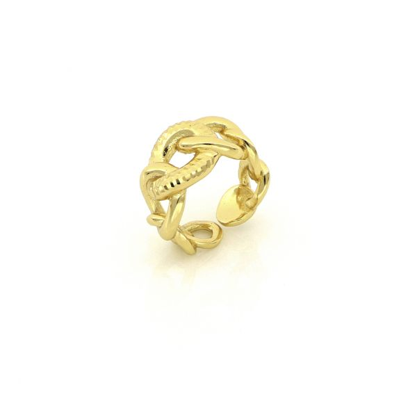 Yellow bronze rings