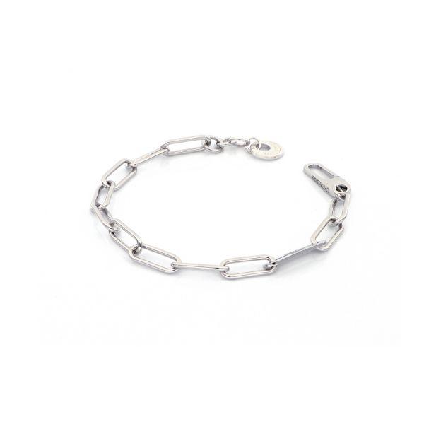 White silver bracelets