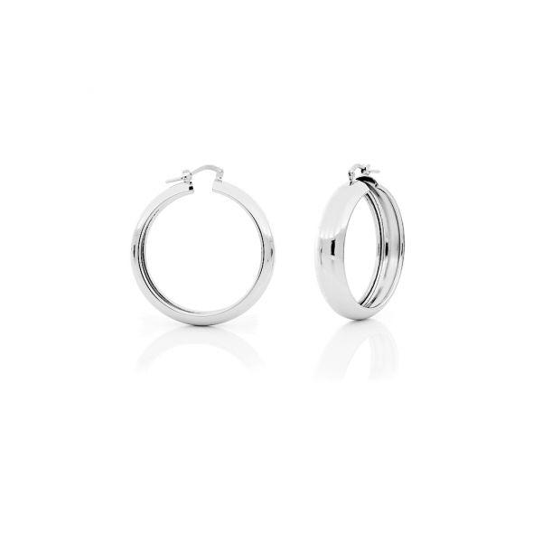 White bronze earrings