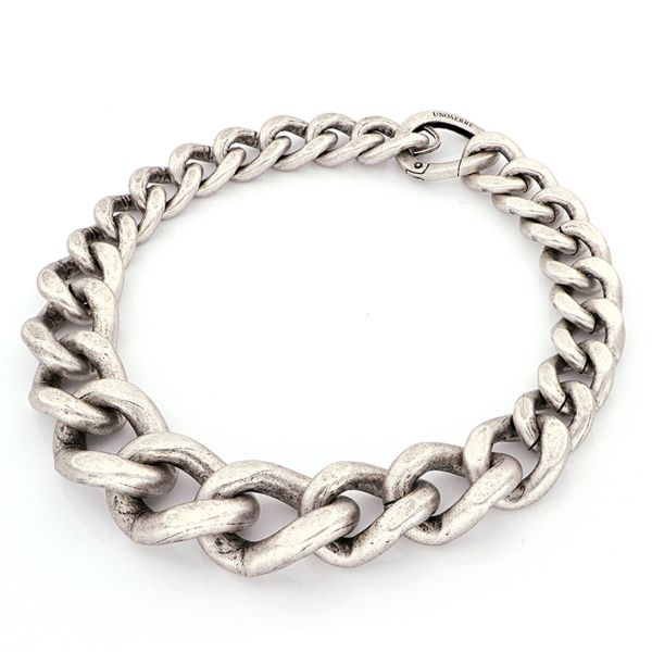 White bronze maxi groumette necklace