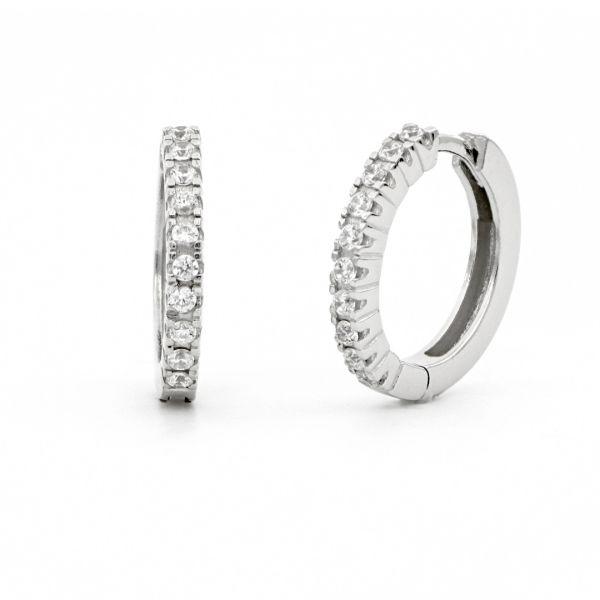 White silver Luxury Hoop earrings