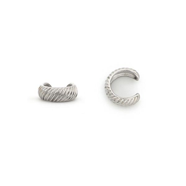 White silver Ear Cuff earring