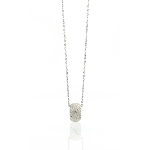 White silver necklaces