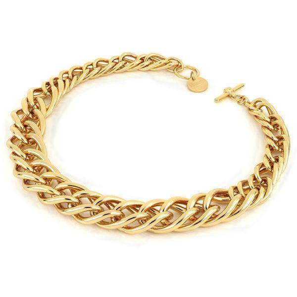 Collana Maxi Twist in bronzo dorato lucido