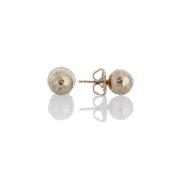 Ice gold silver earrings