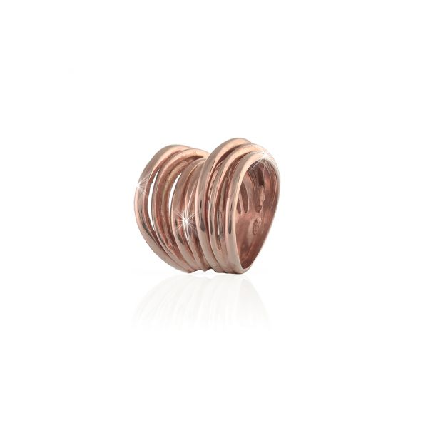 Red silver Vortice ring