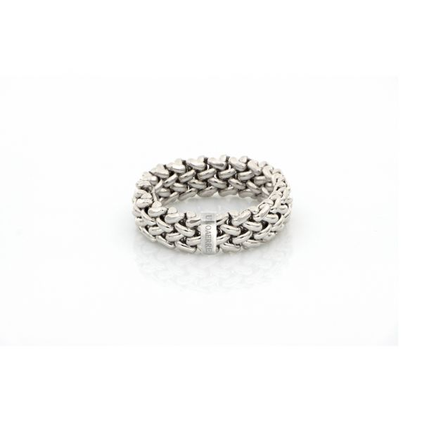 White silver rings