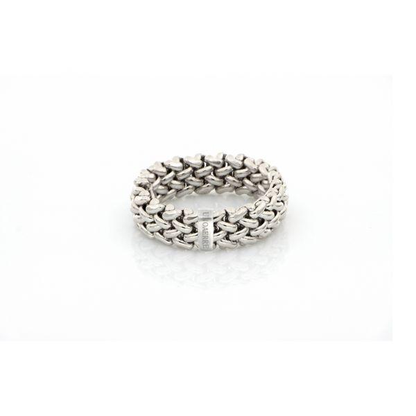 Anello in argento bianco