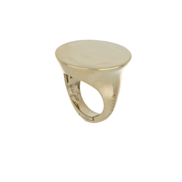 Ice gold silver ring