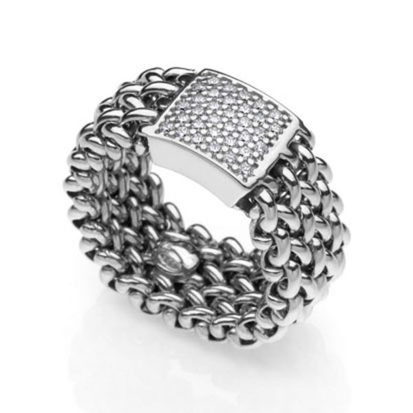 Sterling silver ring Chicco with cubic zirconia stones