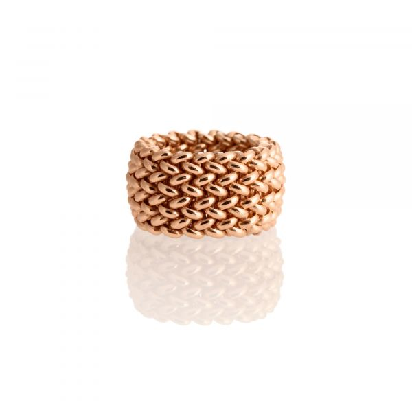 Pink silver ring Chicco