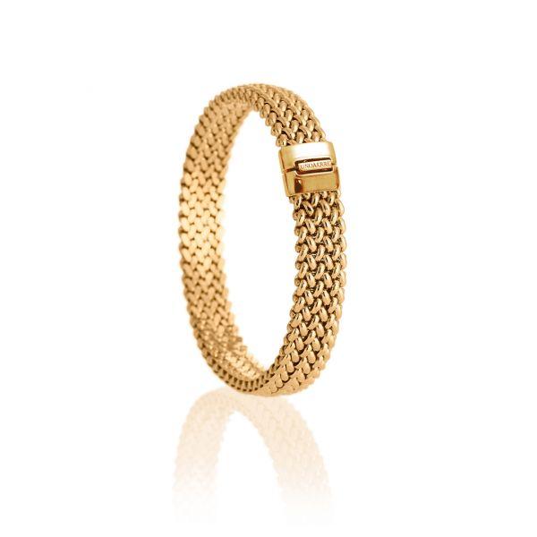 Yellow silver bracelet