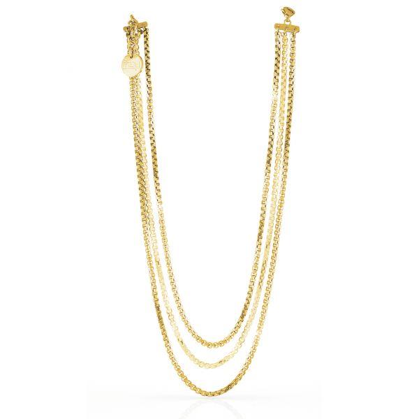 Yellow bronze necklaces