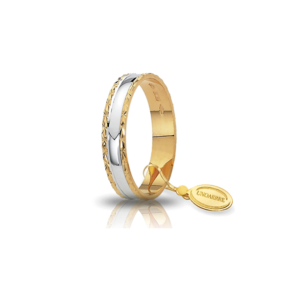 Two colours gold engagement ring