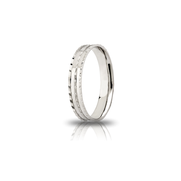 White silver engagement ring