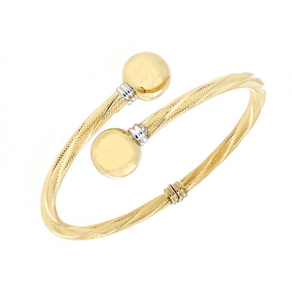 Two colours gold bracelets
