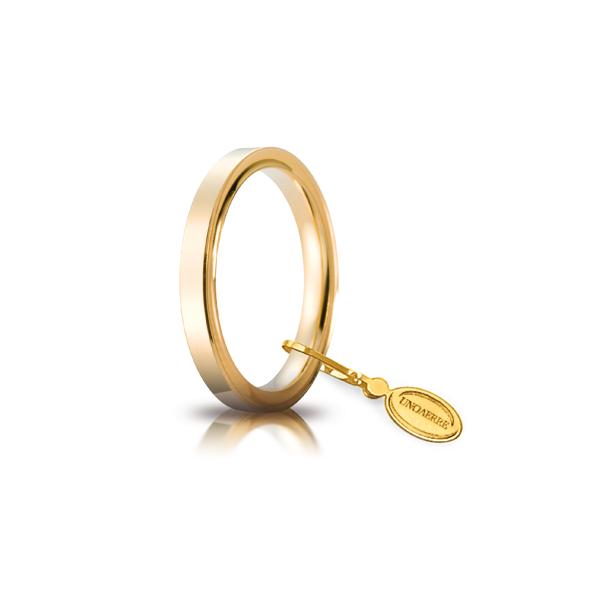 Fede Cerchi di Luce mm.2.5 in oro giallo