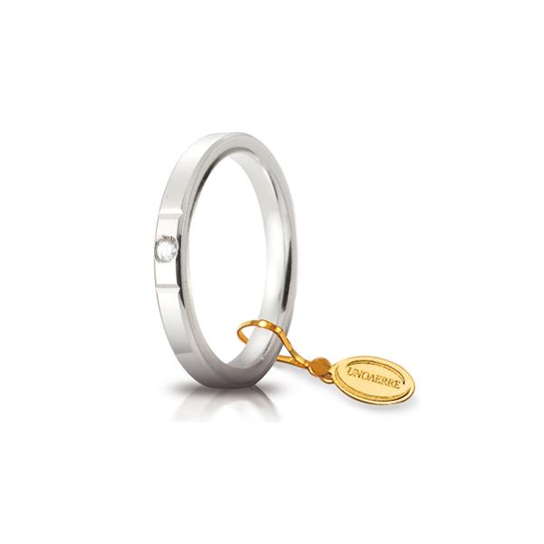 Fede Cerchi di Luce mm.2.5 in oro bianco