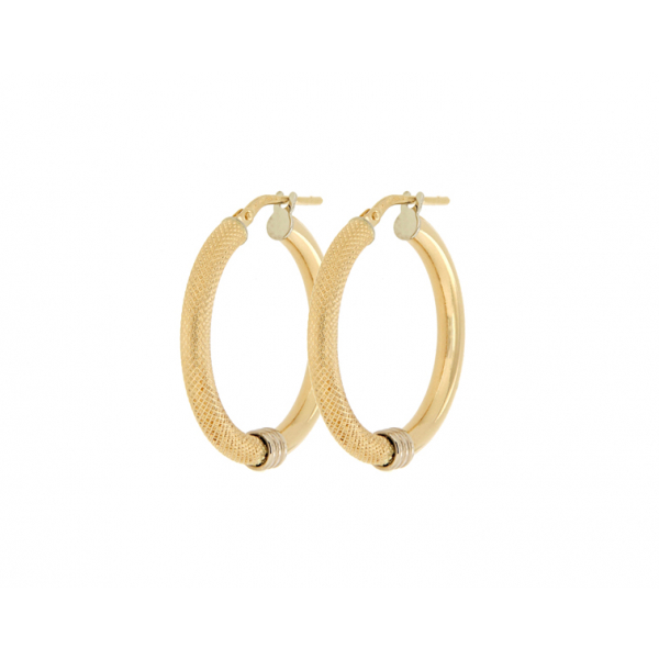Two colours gold earrings