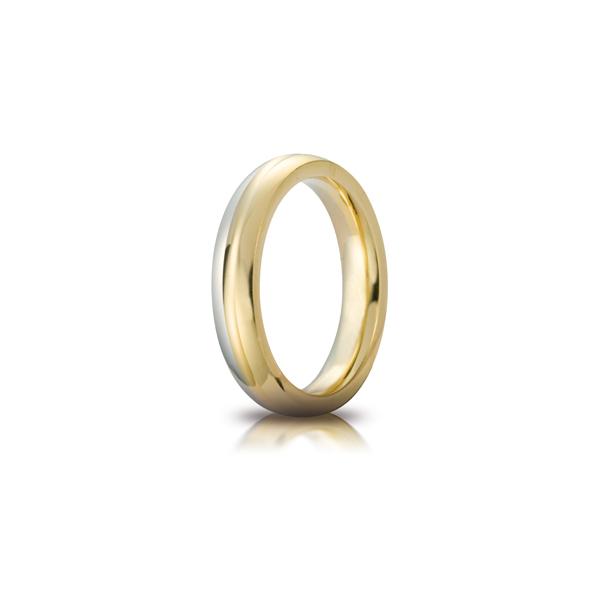 Fede Cerchi di Luce mm.5.0 in oro bicolore
