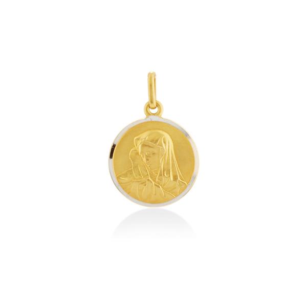 Two colours gold pendants