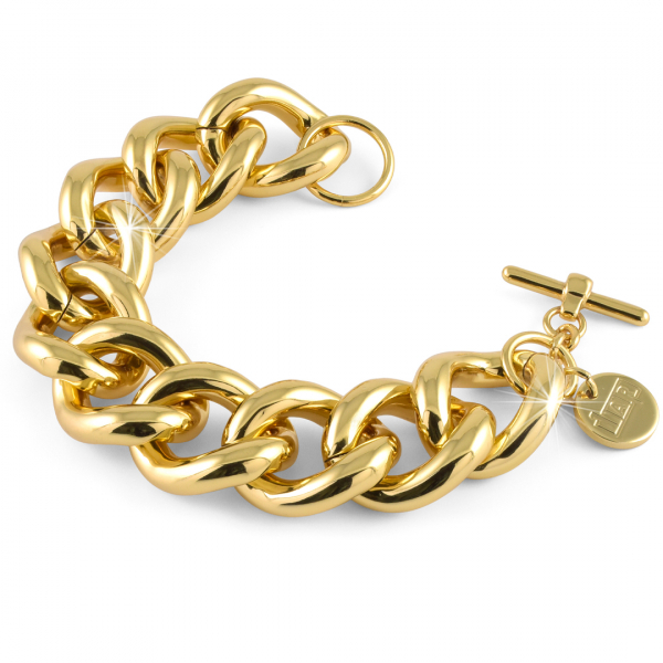 Bracciale catena grumetta maxi in bronzo dorato