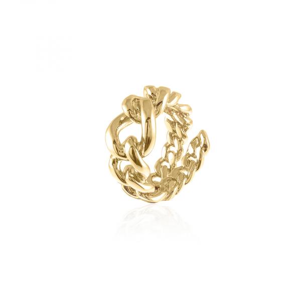 Anello in bronzo dorato