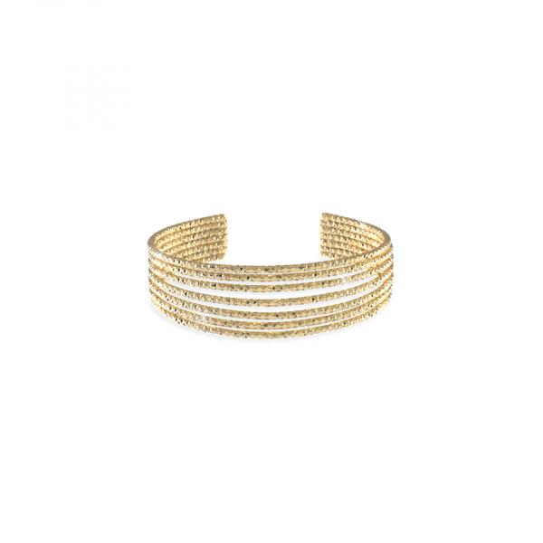Bracciale in bronzo dorato