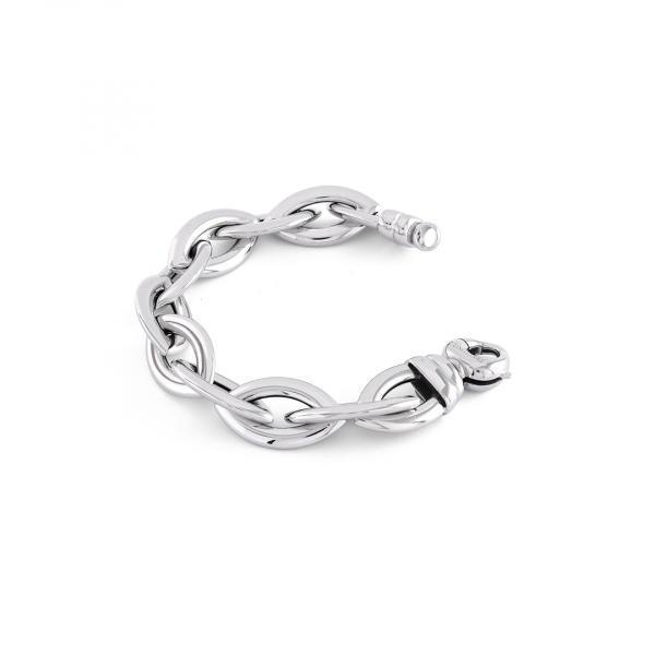 Bracciale in argento bianco