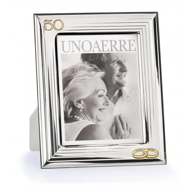 Cornice portafoto in argento bianco