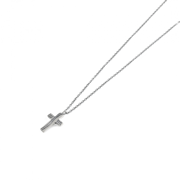 Natural silver necklaces