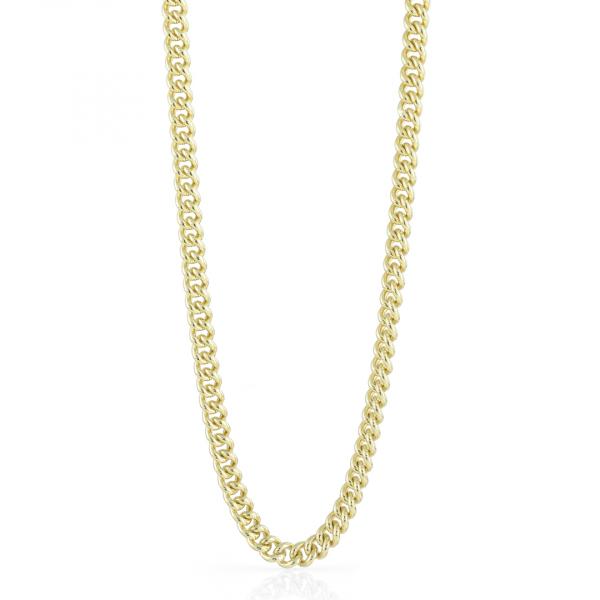 Collana catena grumetta piccola in bronzo dorato