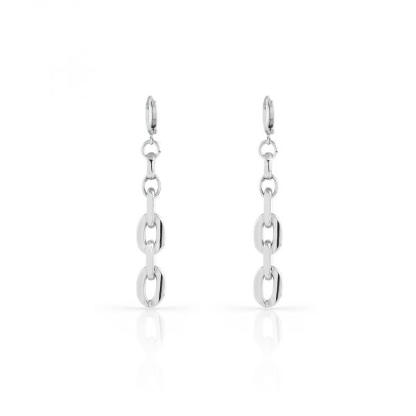 White bronze Flat earrings